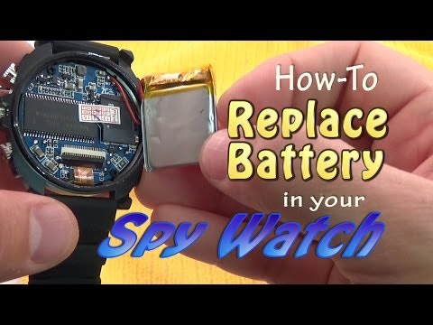 SPY WATCH: Replace Battery or Upgrade Memory