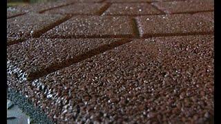 Брусчатка из шин(Энергоёмкий мини-завод по переработке использованных шин начал производить продукцию., 2015-03-04T09:44:00.000Z)