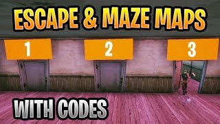 Fortnite Escape & Maze Maps With Codes feat. Memory Quiz & Riddle Maze 2