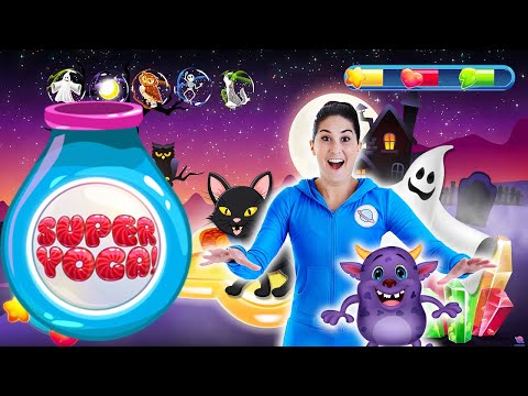 Cosmic Kids Yoga | SUPER YOGA! - Spooky Spectacular | Fun Workout For Kids 👻🎃🕷🧛‍♂️🧟‍♂️