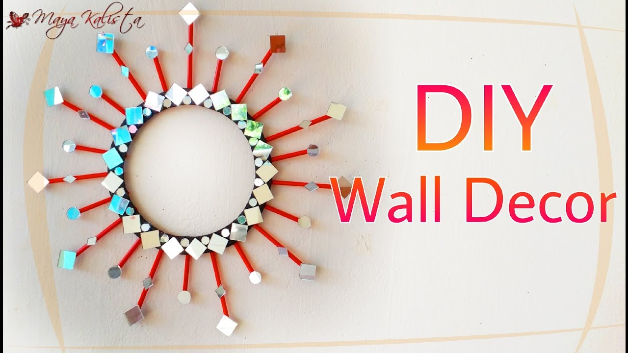 diy mirror wall decor diy decoration ideas for teenagers diy home projects diy crafts youtube - Diy Home Wall Decor Ideas