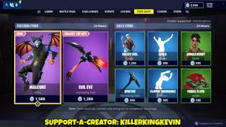 NOUVEAU 'MALCORE' DEMON SKIN: Fortnite Item Shop