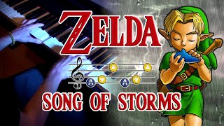The Legend of Zelda - Song Of Storms on Piano | Rhaeide
