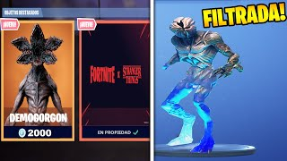 *NEW SKIN FILTRADA* FROM STRANGER THINGS DEMOGORGON in FORTNITE!! 🌌😱