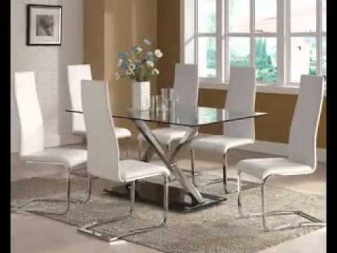 Modern glass dining table decor ideas - YouTube