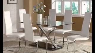 Modern Glass Dining Table Decor Ideas