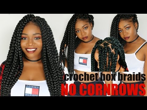 Individual Crochet Box Braids | No Cornrows! New Method! Long Large 90's Braids in 2-3 Hrs