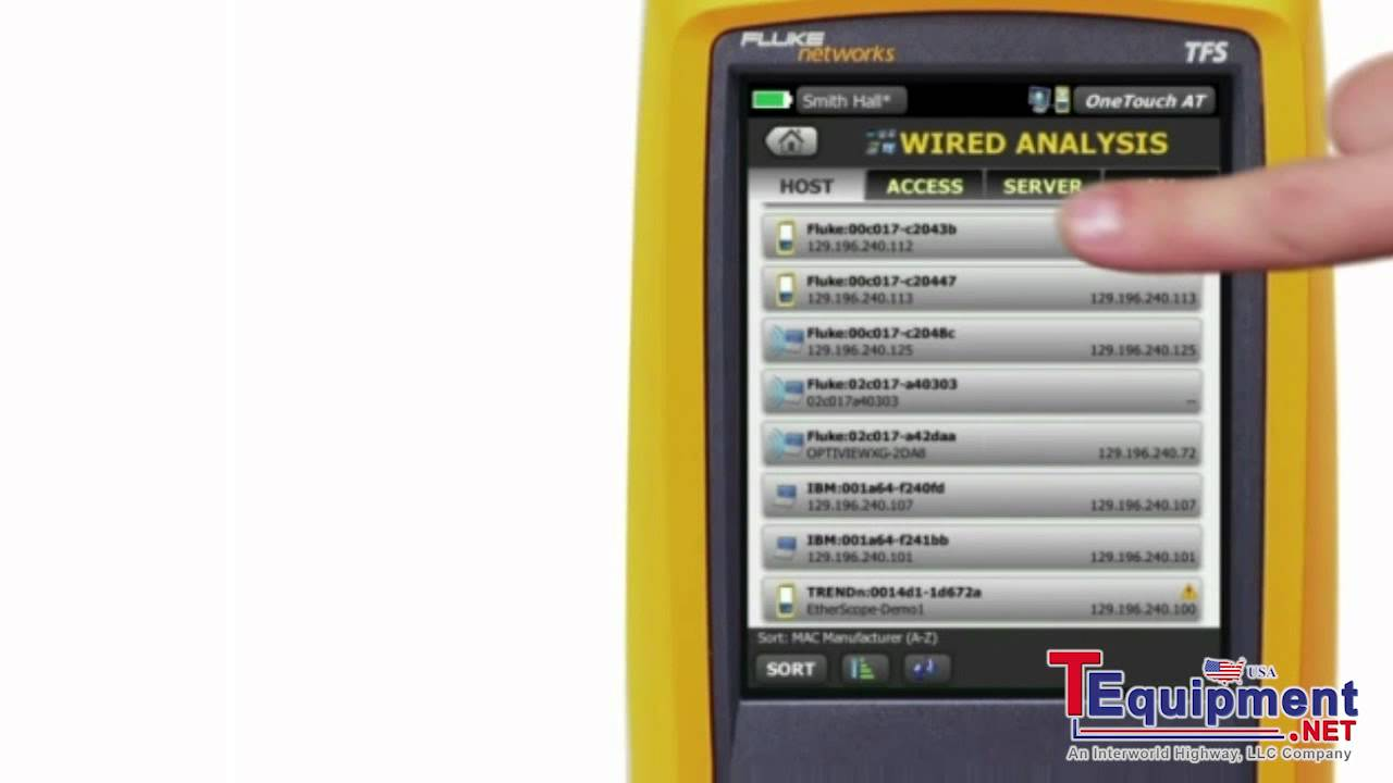 Fluke Networks OneTouch AT Wired Analysis Demonstration - YouTube
