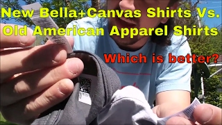 Amazon Merch Review New Bella+Canvas Shirts Vs. Old American Apparel Shirts | How do They Stack Up?