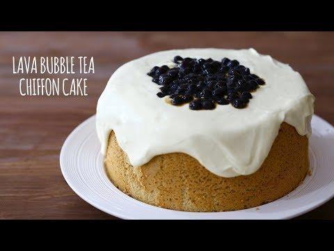 LAVA BUBBLE TEA CHIFFON CAKE recipe – BÁNH KEM TRÀ SỮA TRÂN CHÂU PHÔ-MAI