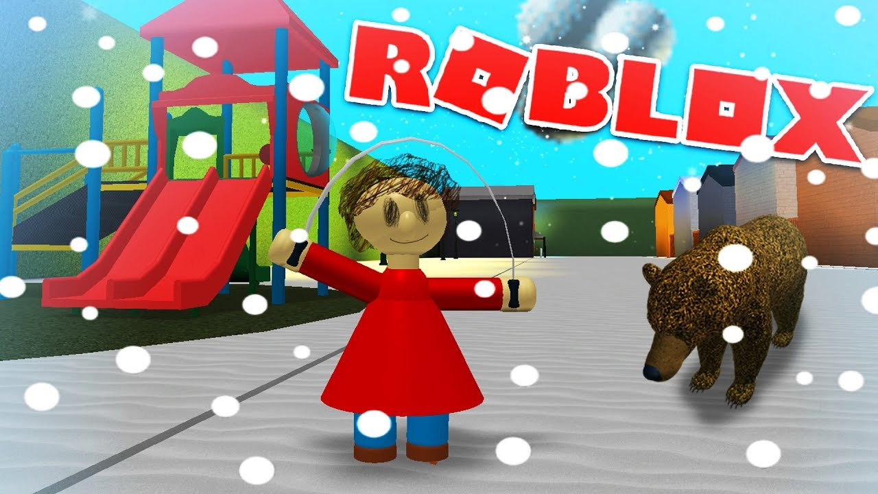 Playtime Plays In The Snow And Meets A Bear Roblox Baldi S
