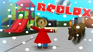 PLAYTIME PLAYS IN THE SNOW! (and meets a bear?) | Roblox Baldi's Basics Roleplay