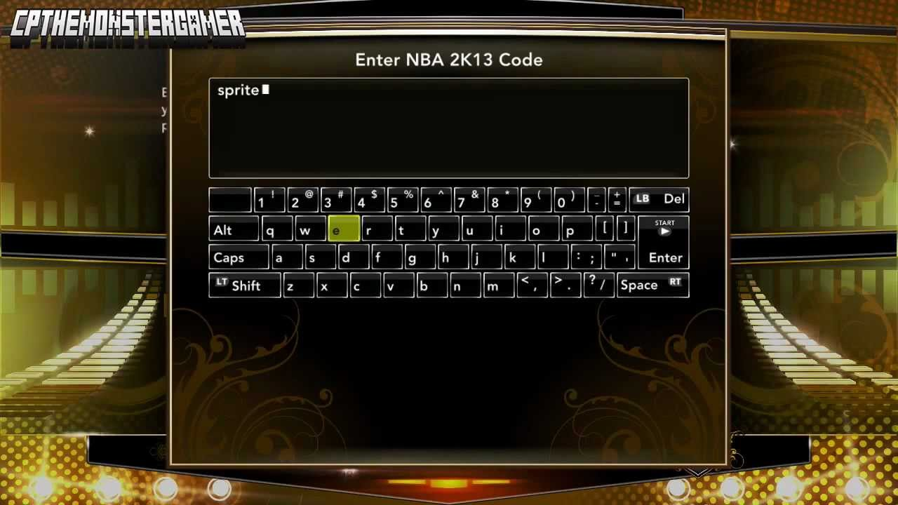 <b>NBA 2K13 CHEAT CODE</b> SPRITE EFFECT BONUS - YouTube