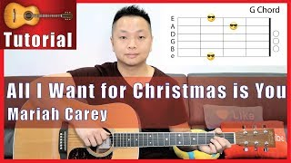 """All I Want for Christmas is You"" Guitar Tutorial - Mariah Carey 