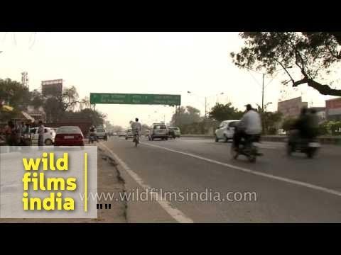Driving acorss the roads of Faridabad, Haryana