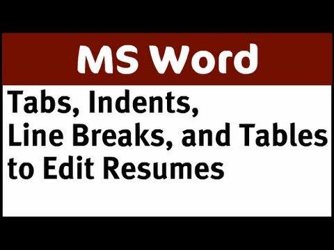 how to line break in word