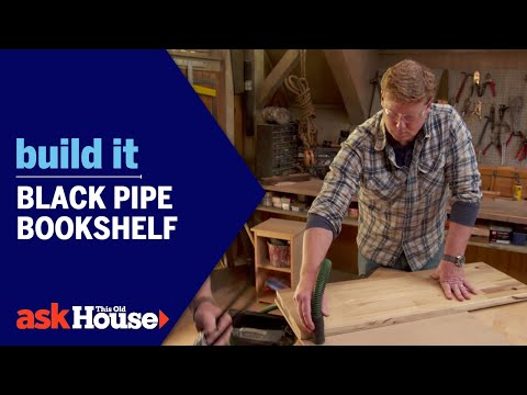 Build It Black Pipe Bookshelf Youtube