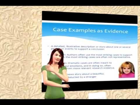 critical thinking - evaluating evidence - YouTube