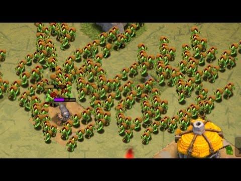 Clash of Clans - 300 GOBLINS ATTACKS! Level 5 Goblin Raids! 300 (Mass Gameplay) TH10 3 STAR!