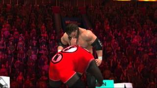 WWE Smackdown vs. Raw 2011 Triple H Finisher Pedigree from Turnbuckle