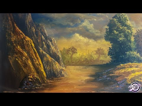 Golden Sunset Painting | Art Candy