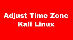 Kali Linux Quick Start Guide - how to adjust timezone and sync to ntp servers