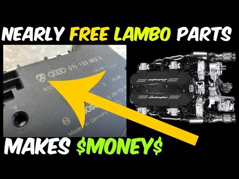 Selling CHEAP Lamborghini Parts Lowers Cost of Salvage Rebuild Project! Make Money doing THIS