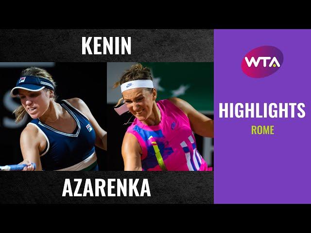 Sofia Kenin vs. Victoria Azarenka | 2020 Rome Second Round | WTA Highlights