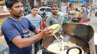 Hardworking Man making live Banana Chips | Indian Street Food