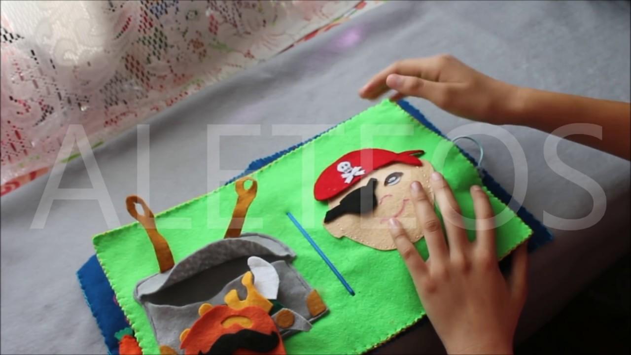 Libro de tela con actividades sensorio motoras para ni os - Actividades para ninos pequenos ...