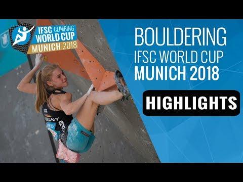 IFSC Climbing World Cup Munich 2018 - Bouldering Finals Highlights