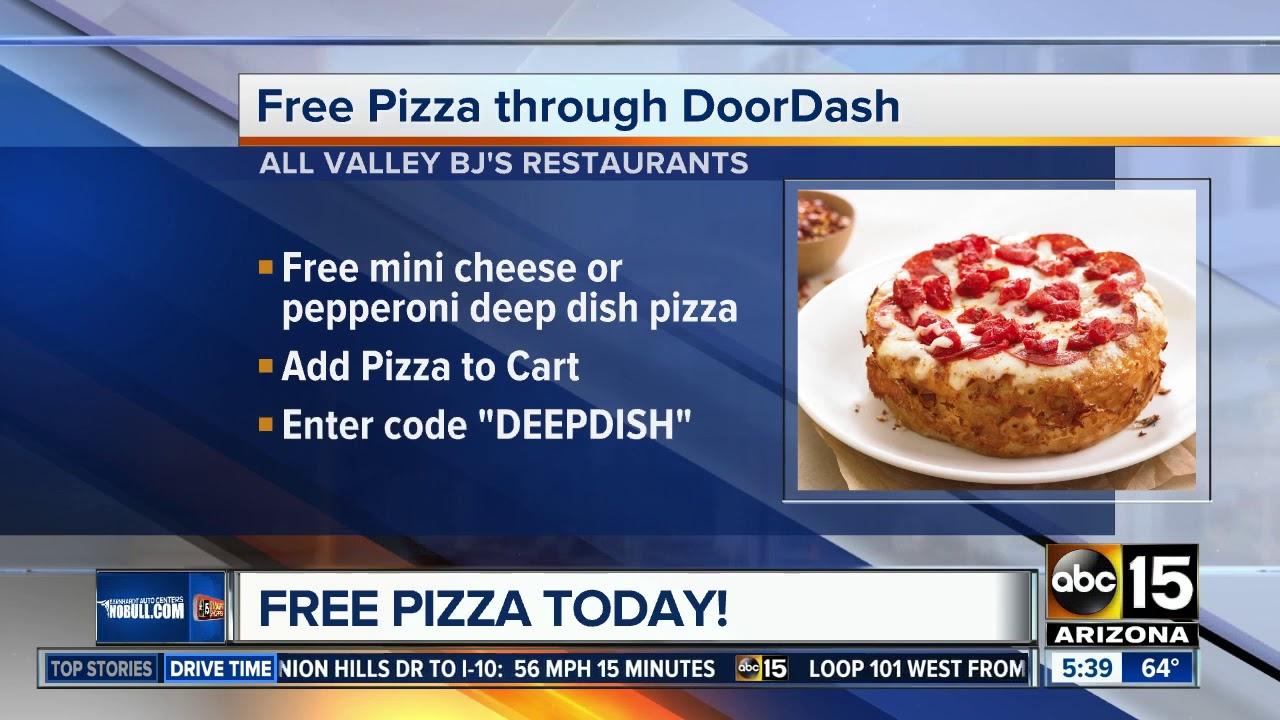 Get free pizza through DoorDash