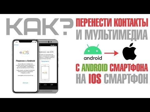 Как перенести контакты с Android смартфона на IOS смартфон