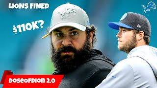 Lions FINED 110K For Injury Report! What Is This?! Detroit Lions Talk