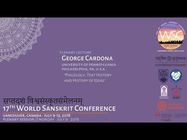 WSC2018 Plenary Lecture: George Cardona