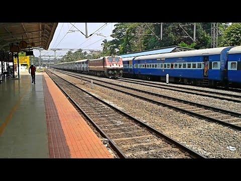 Patna - Ernakulam Superfast thrashing overtake Egmore - Mangalore Express
