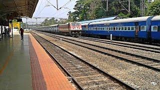 Patna - Ernakulam Superfast thrashing overtake Chennai - Mangalore Express
