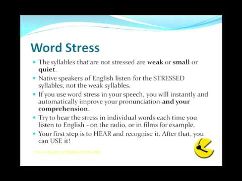 english word stress or accent affected 2013-01-26 how to teach pronunciation & accent reduction  what are the common problems students seem to have sentence or word stress intonation  almost all students are affected by issues such as intonation and stressing.