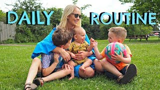 DAILY ROUTINE WITH 3 KIDS | MUMMY ROUTINE