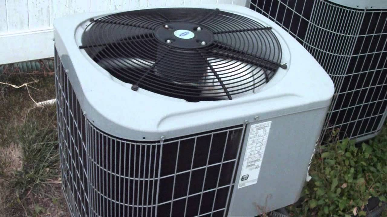 My Carrier Air Conditioners And The Indoor Units Running