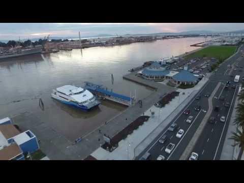 Drone Vallejo ferry terminal/mare island