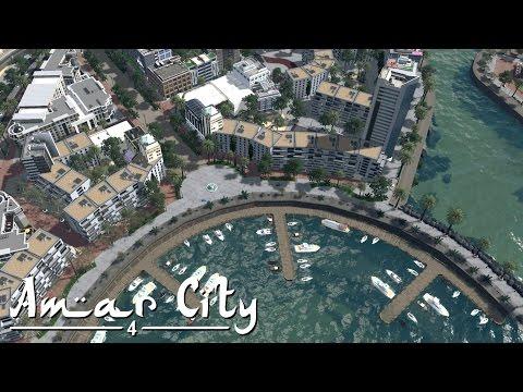 Cities Skylines: Amar City (Part 4) - Marina & Shopping Street