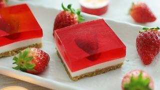 Strawberry Jelly Hearts Cheesecake