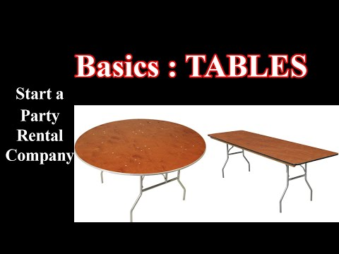Start An Event Rental Company - The Basics - Tables