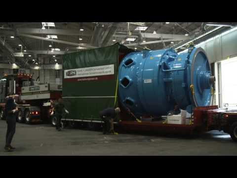 World's biggest wind gearbox arrives at WindEnergy Hamburg
