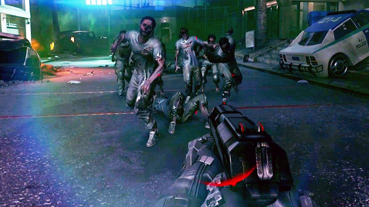 Call Of Duty Advanced Warfare Zombie Mode Gameplay Riot Survival Bonus Round Youtube