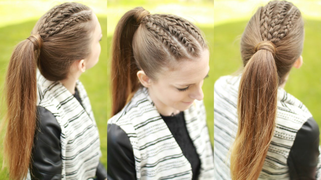 braided ponytail hairstyle | ponytail hairstyles | braidsandstyles12