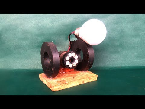 Free energy electricity light bulbs generator - DIY science projects at school