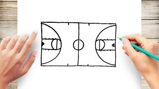 How to Draw a Basketball Court Step by Step for Kids