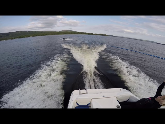 First Time Wakeboarding at Loch Lomond